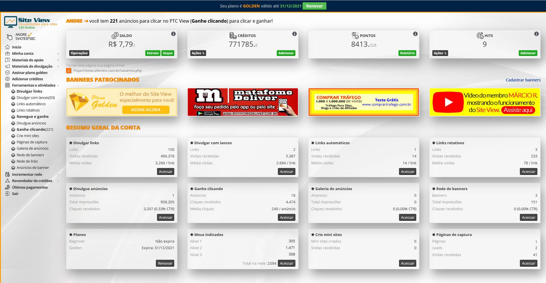Site View - Visualizações para sites